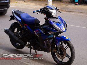 Tem Trùm Exciter 150 MotoSport Xanh Đen